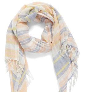 NWT Caslon  stripe linen scarf